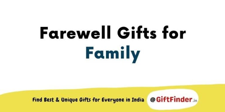 farewell gifts for family
