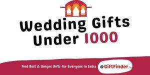 wedding gifts under 1000